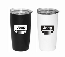 """JEEP GRILL""<br>Stainless Steel Tumbler"