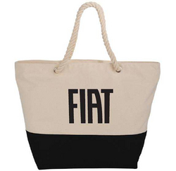 """FIAT""<br>Cotton Canvas Zippered Tote"