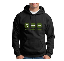 """EAT, SLEEP, JEEP""<br>Adult Hoodie"