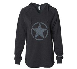 """JEEP STAR""<br>Ladies Hooded Pullover"