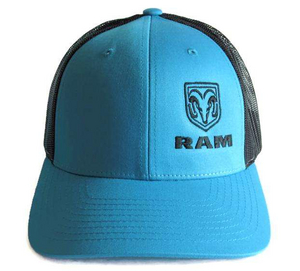 """RAM""<br>Trucker Low Profile Cyan/Black Cap"
